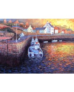 A New Day Dawns - Crail Harbour