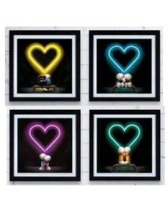 Four Box of Love Neon Prints