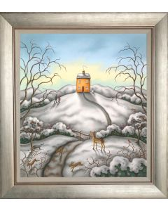 When Snow Falls, Nature Listens - Board Framed